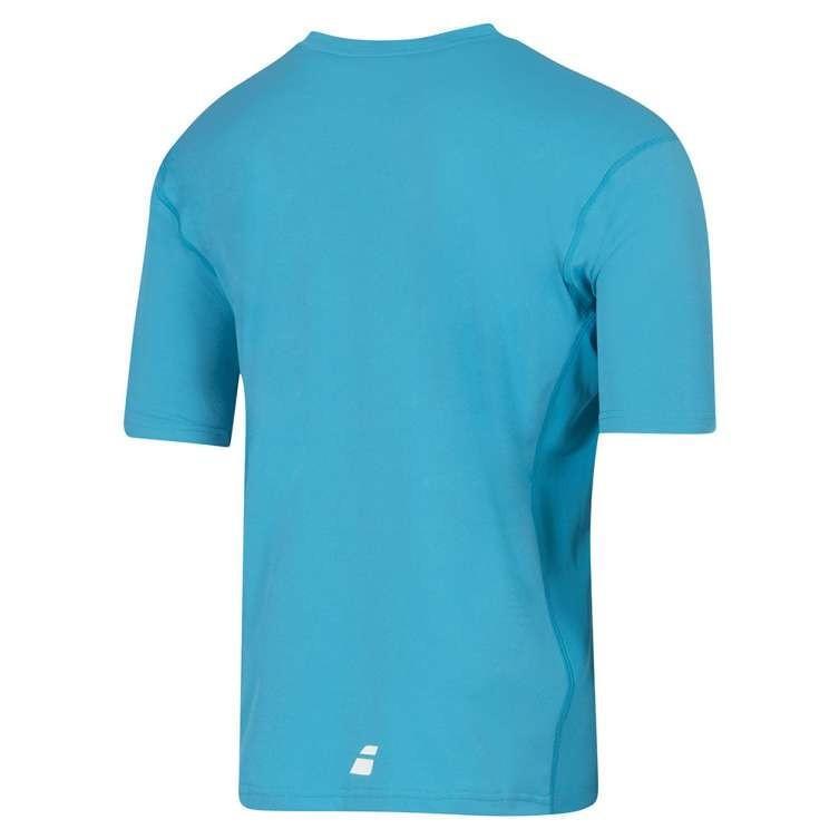 Теннисная футболка детская Babolat T-Shirt Flag Core Boy light blue