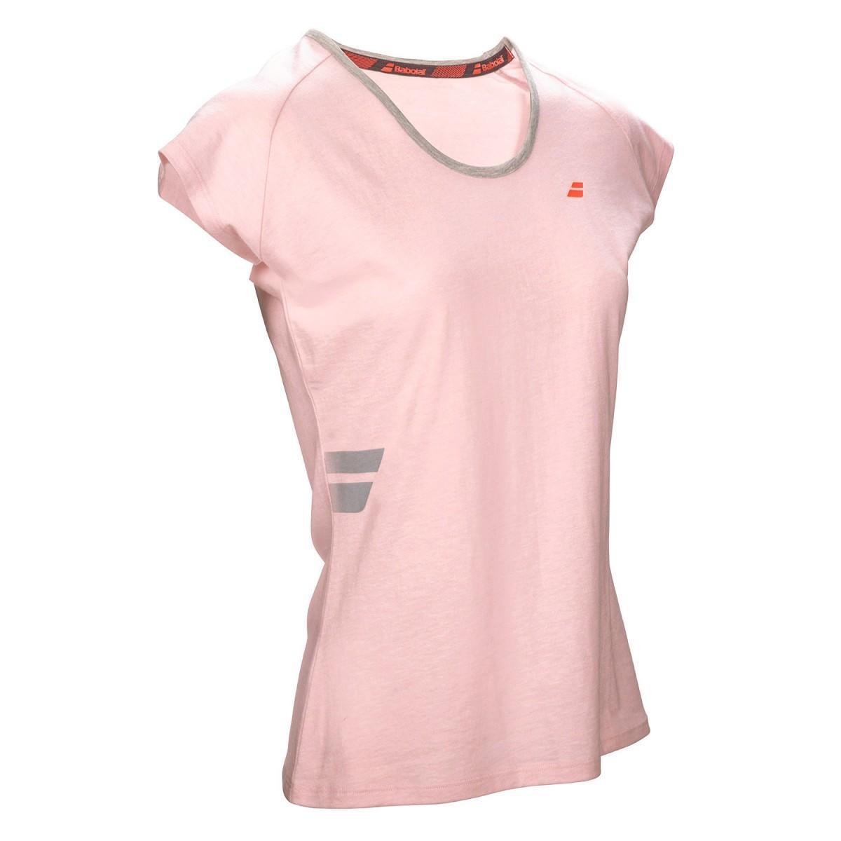 Теннисная футболка детская Babolat Core Tee Girl light pink