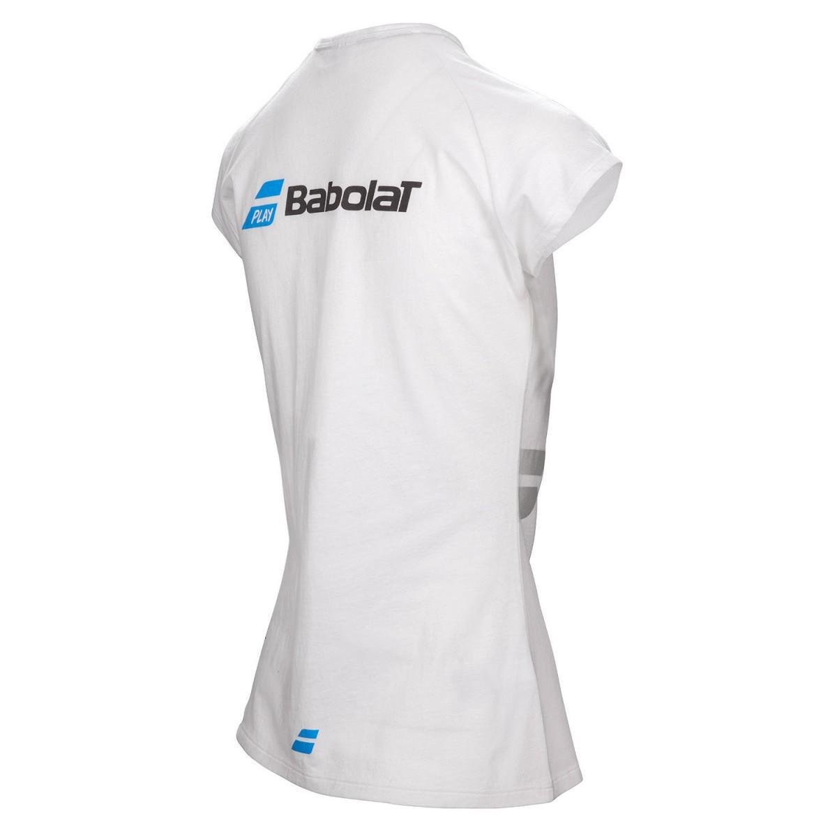 Теннисная футболка детская Babolat Core Tee Girl white