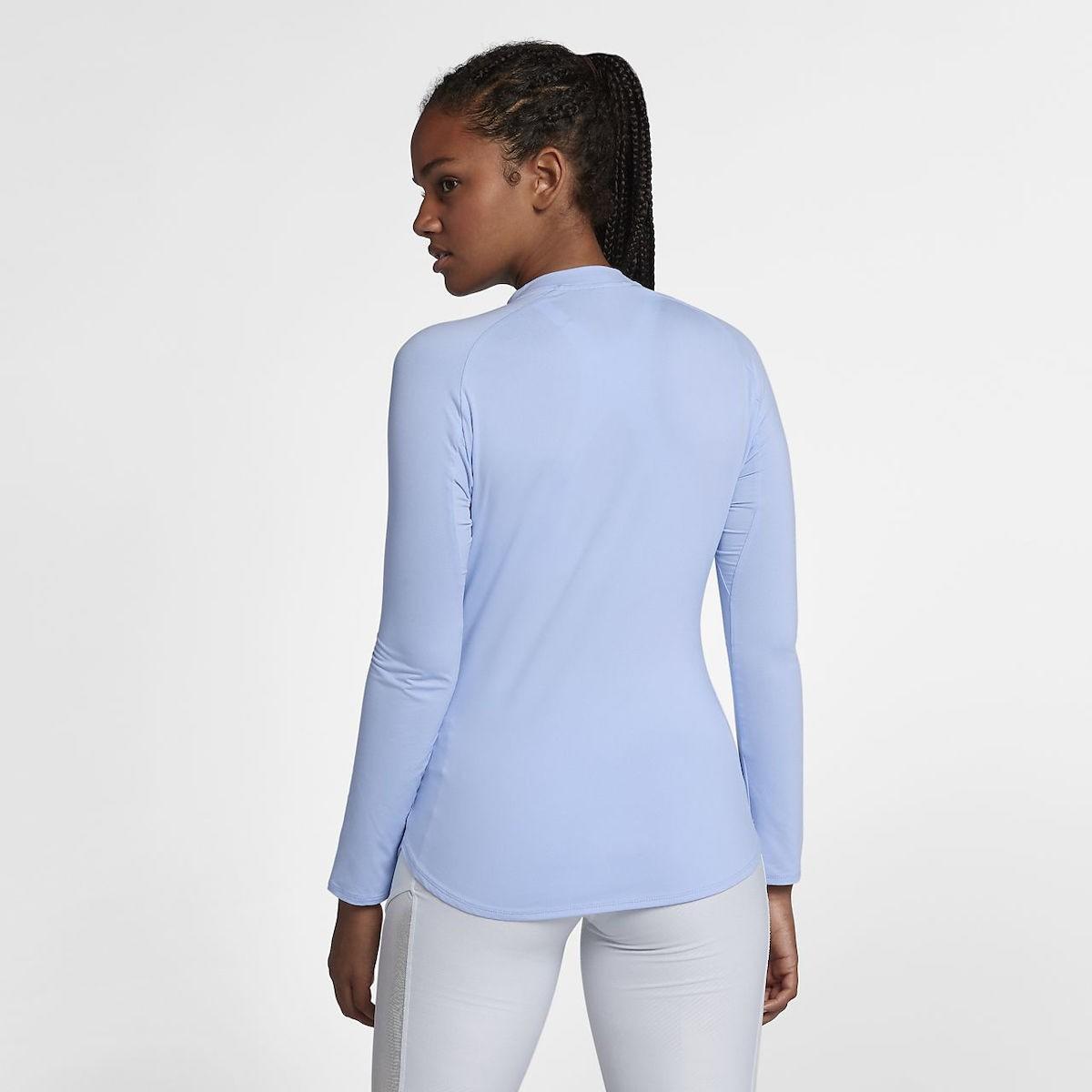 Тенісна футболка жіноча Nike Court Pure LS HZ Top royal tint/white