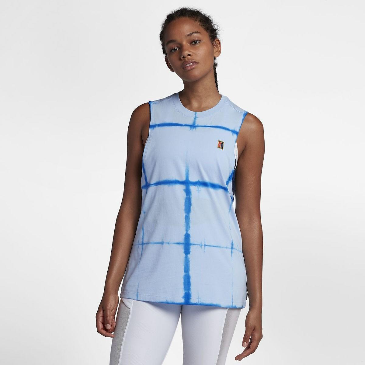 Теннисная майка женская Nike Court Tank Tie Dye Muscle - royal tint