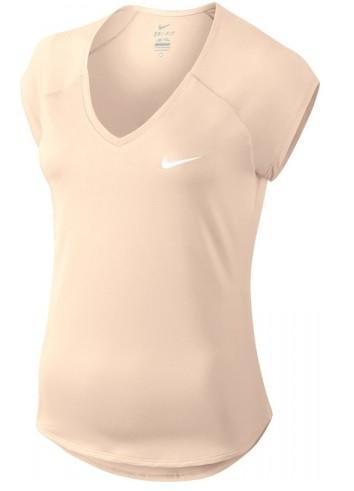 Теннисная футболка женская Nike Court Pure Top guava ice/white