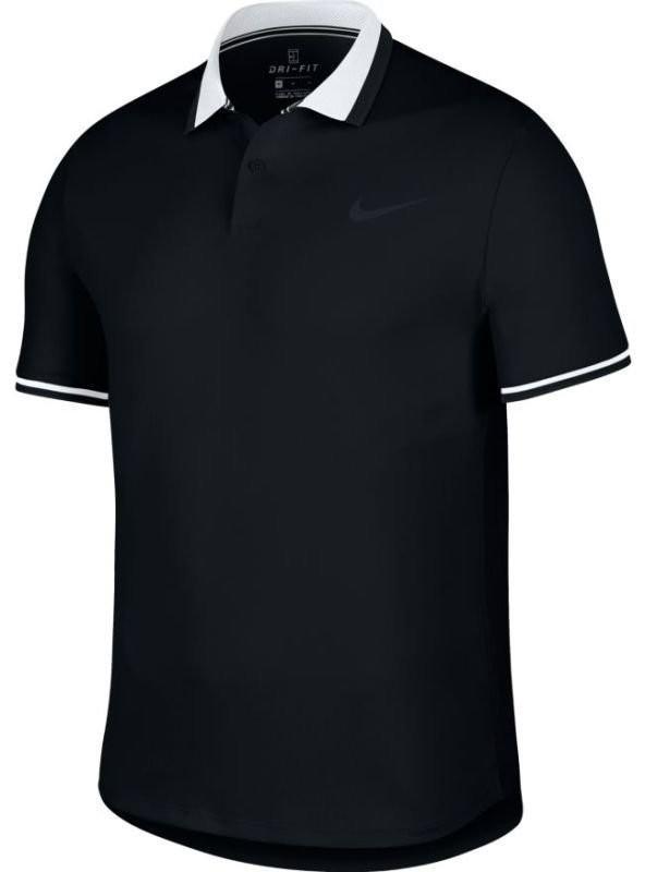Теннисная футболка мужская Nike Court Advantage Polo Classic black/white/black