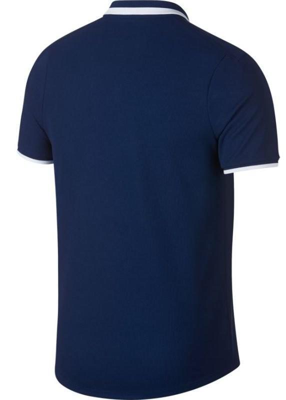 Теннисная футболка мужская Nike Court Advantage Polo Classic blue void/white