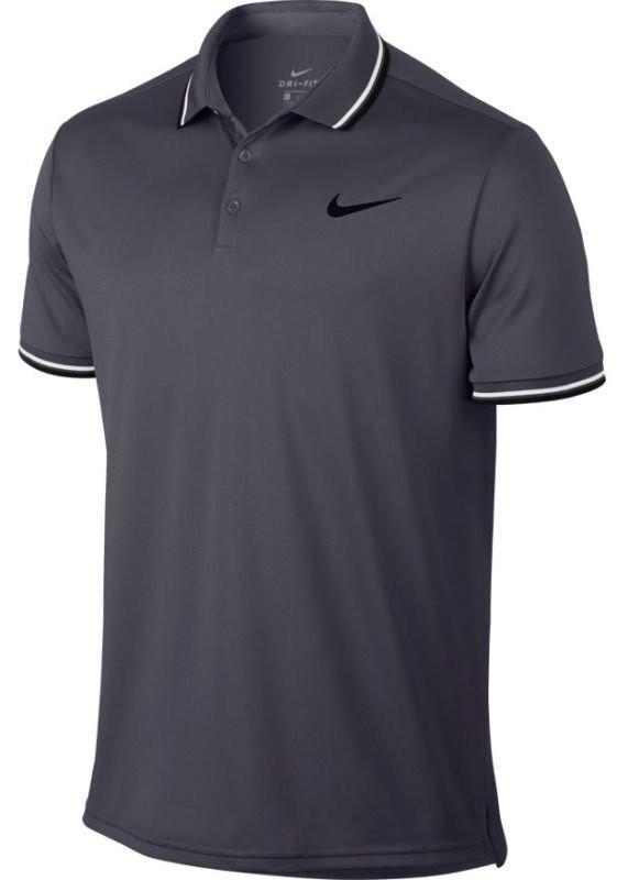 Теннисная футболка мужская Nike Court Dry Polo Solid PQ gridiron/black