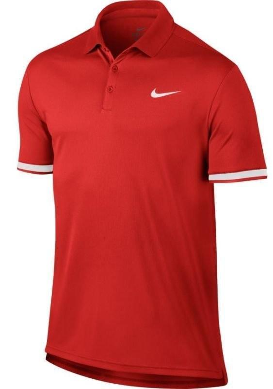 Теннисная футболка мужская Nike Court Dry Polo Team habanero red/white