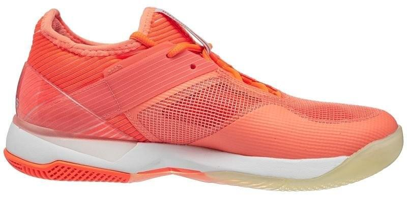 Теннисные кроссовки женские Adidas Adizero Ubersonic 3 W chalk coral/aero blue/hi-res orange