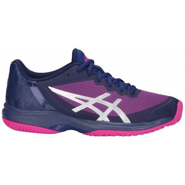 Теннисные кроссовки женские Asics Gel Court Speed blue print/pink glo
