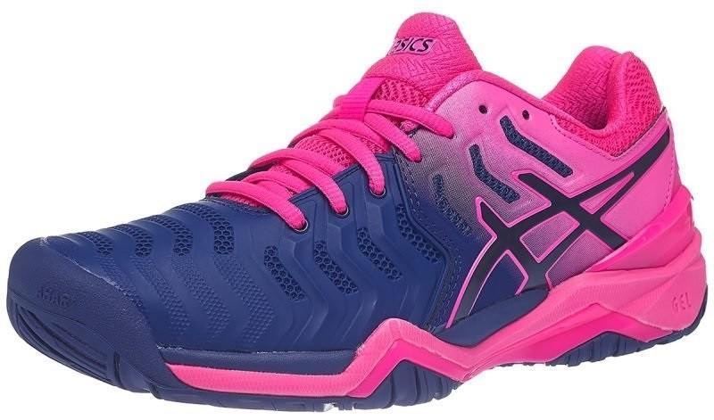 Теннисные кроссовки женские Asics Gel-Resolution 7 blue print