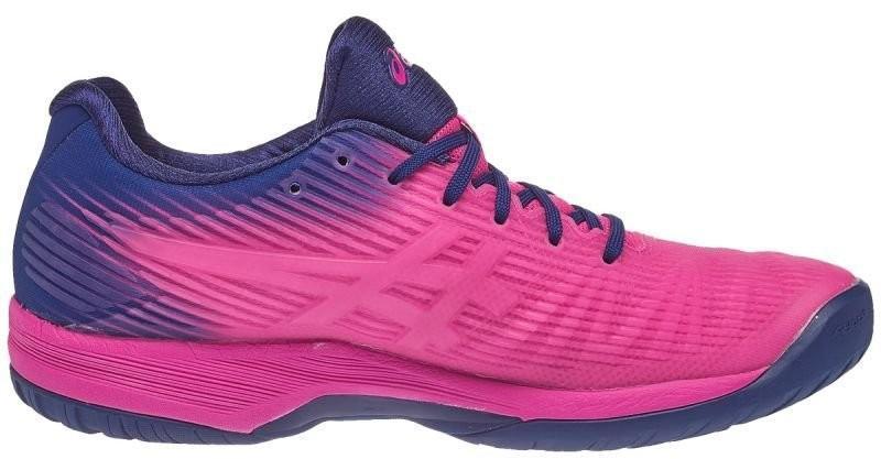 Теннисные кроссовки женские Asics Solution Speed FF W pink glo/white