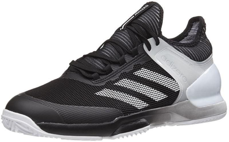 Теннисные кроссовки мужские Adidas Adizero Ubersonic 2 ГРУНТ black/white