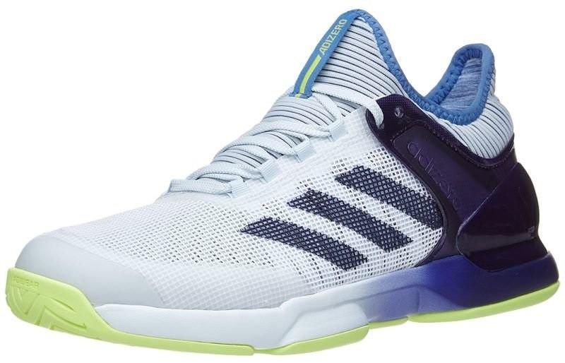 Теннисные кроссовки мужские Adidas Adizero Ubersonic 2 blue tint/noble ink/semi frozen yellow