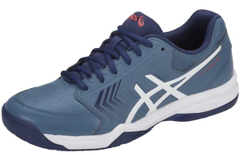 Теннисные кроссовки мужские Asics Gel-Dedicate 5 azure/white