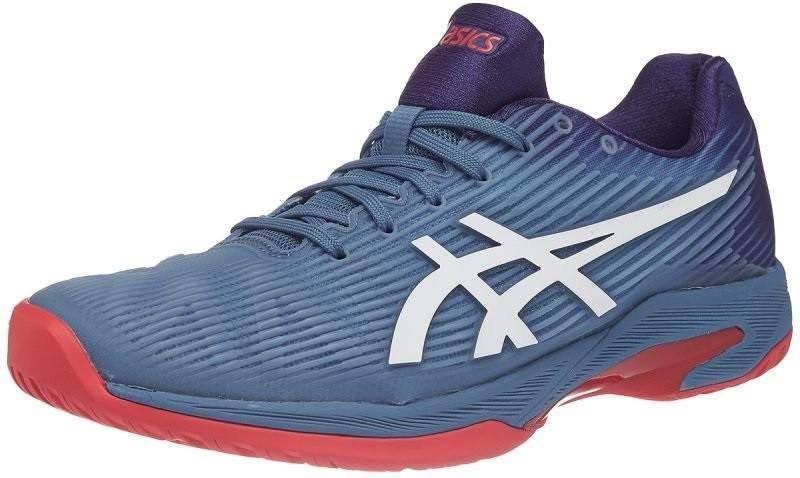 Теннисные кроссовки мужские Asics Solution Speed FF azure/white