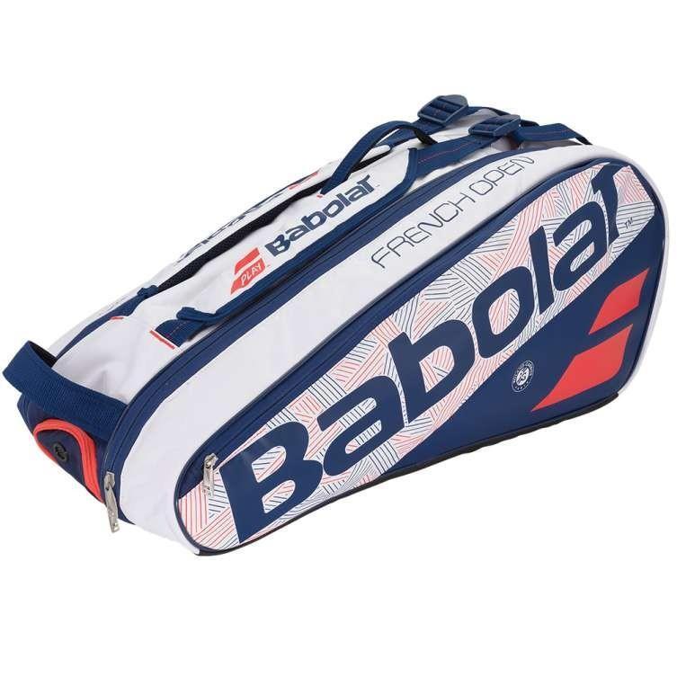 Теннисная сумка Babolat Pure French Open x6  - white/blue