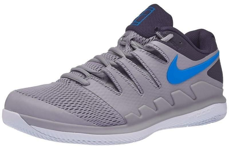 Детские теннисные кроссовки Nike Air Zoom Vapor 10 HC Jr atmosphere grey/photo blue