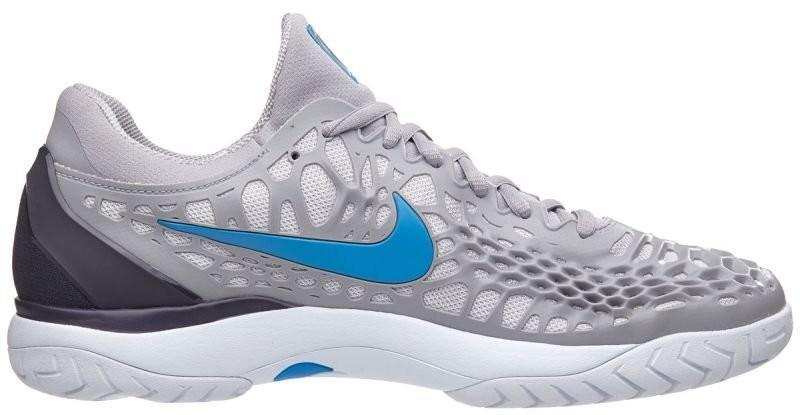 Тенісні кросівки чоловічі Nike Air Zoom Cage 3 HC atmosphere grey/photo blue