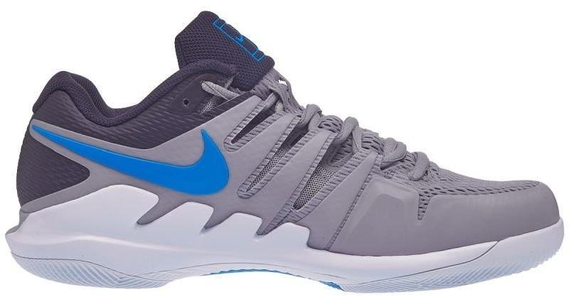 Теннисные кроссовки мужские Nike Air Zoom Vapor 10 HC atmosphere grey/photo blue