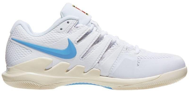 Теннисные кроссовки мужские Nike Air Zoom Vapor 10 HC white/university blue
