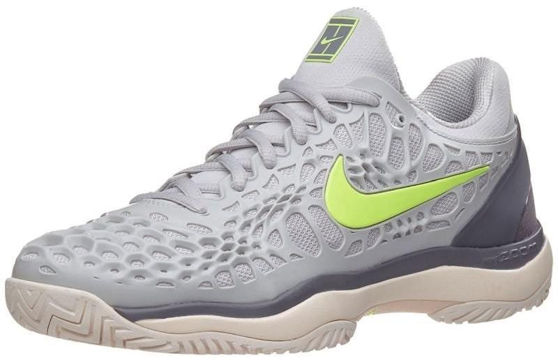 Теннисные кроссовки женские Nike WMNS Air Zoom Cage 3 HC vast grey/volt glow/gunsmoke