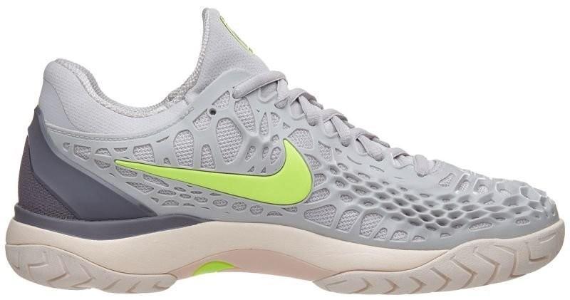 Теннисные кроссовки женские Nike WMNS Air Zoom Cage 3 HC vast grey/volt glow/gunsmoke