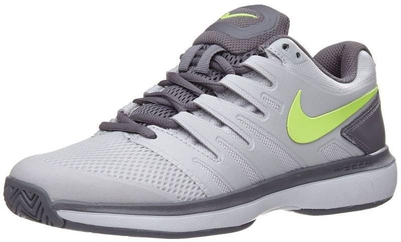 Теннисные кроссовки женские Nike WMNS Air Zoom Prestige vast grey/volt glow/gunsmoke