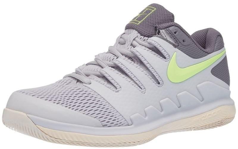 Теннисные кроссовки женские Nike WMNS Air Zoom Vapor 10 HC vast grey/volt glow/guava ice