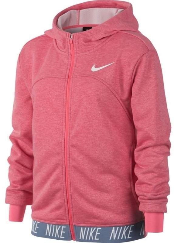 Кофта детская Nike Girls Dry Hoodie FZ Studio pink nebula/htr/pink nebula/white