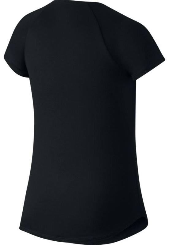 Теннисная футболка детская Nike Court Pure Top black/white