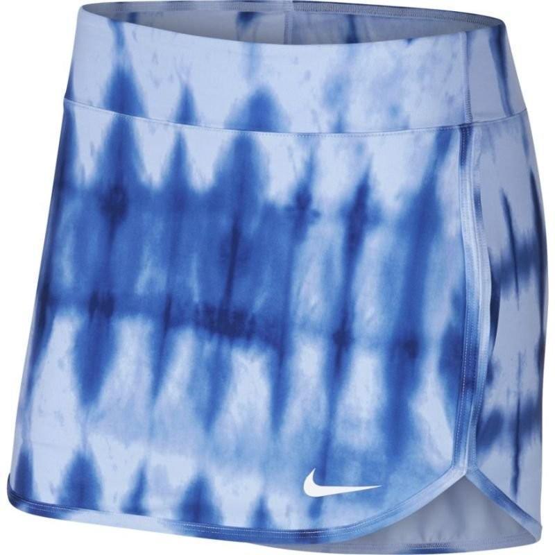 Теннисная юбка женская Nike Court Pure Skirt Printed royal tint/royal tint/white