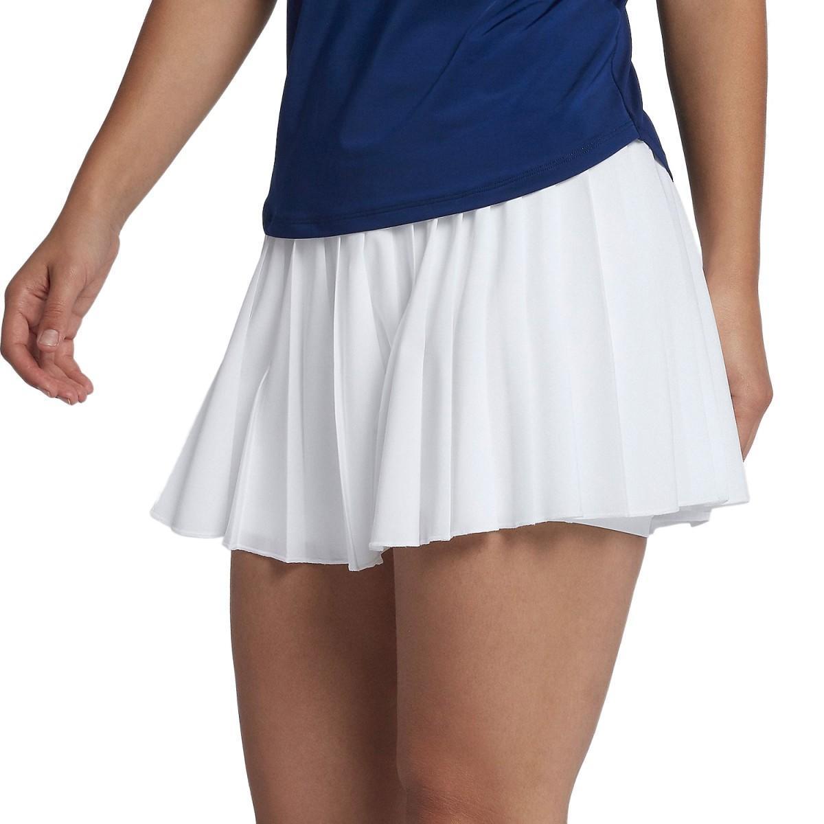 Теннисная юбка женская Nike Court Victory Skirt white/black