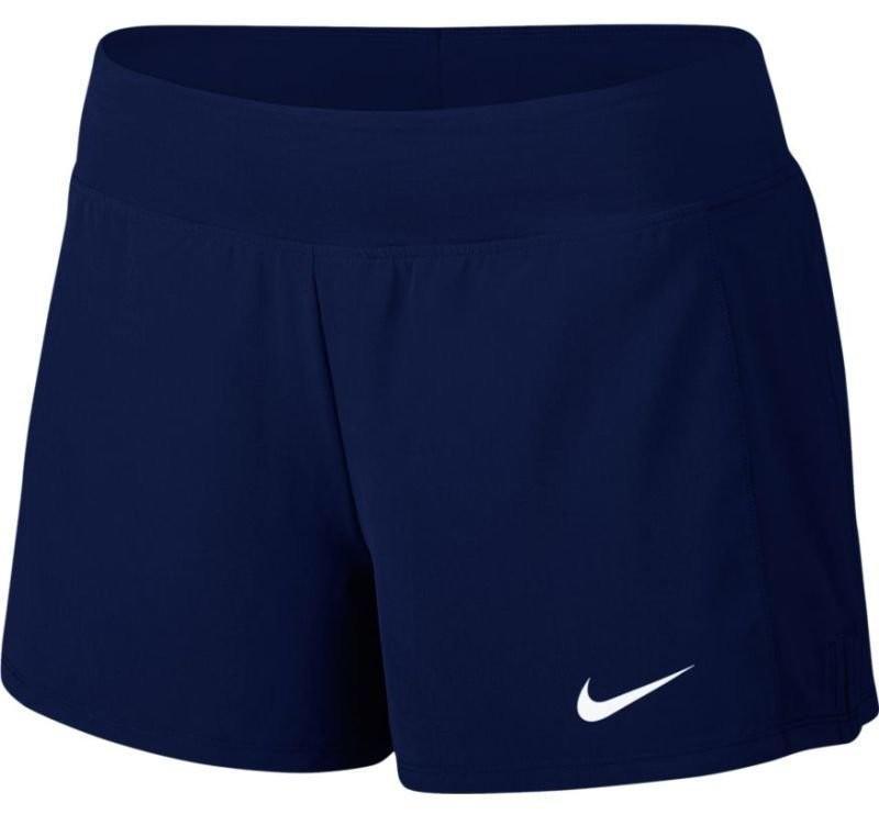 Теннисные шорты женские Nike Court FLX Pure Short blue void/white