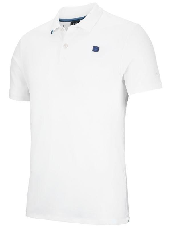 Теннисная футболка детская Nike Boys RF Essential Polo white