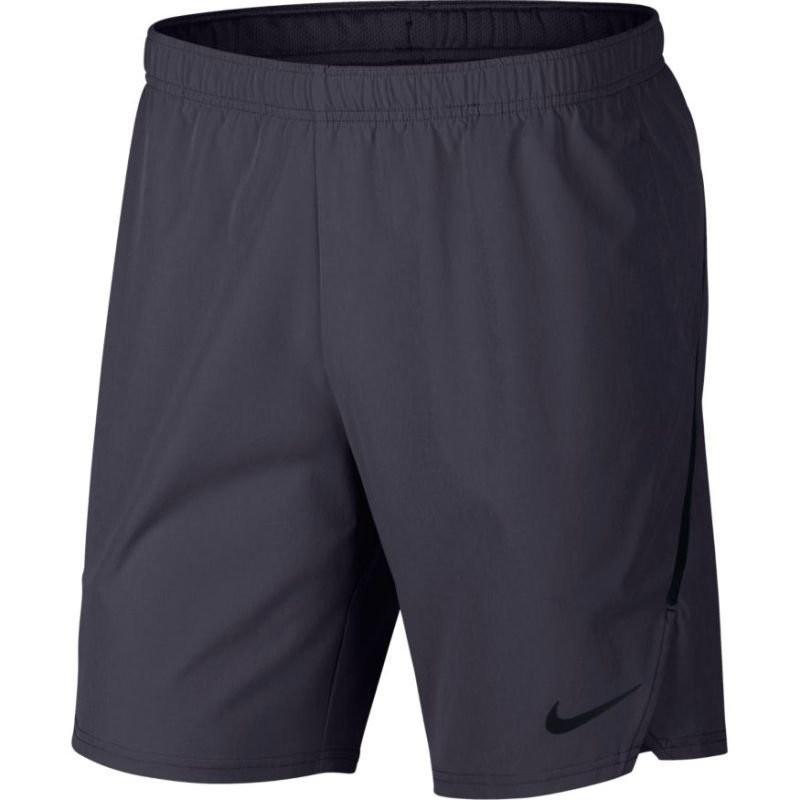 Теннисные шорты мужские Nike Flex Ace 9IN Short gridiron/gridiron/black