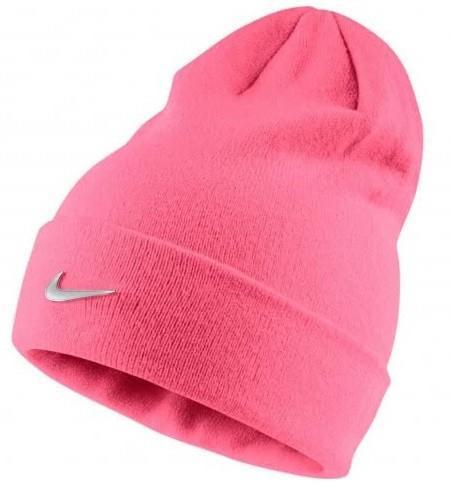 Спортивная шапка Nike Beanie Metal Swoosh Pink Nebula/Metallic Silver