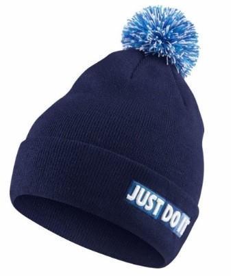 Спортивная шапка Nike Beanie Pom Blue/White