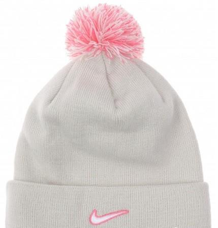 Спортивная шапка Nike Beanie Pom Light Bone/White