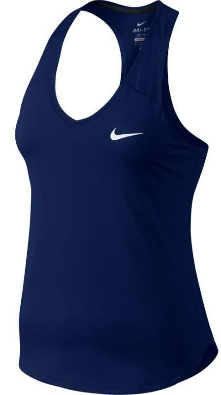 Теннисная майка женская Nike Pure Tank blue void/white