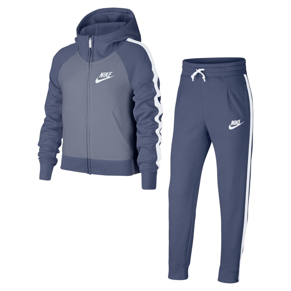 Спортивный костюм детский Nike Girl's Sportswear Suit Blue