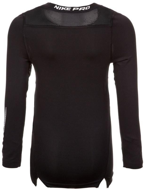 Теннисная футболка детская Nike Pro LS Comp Top black