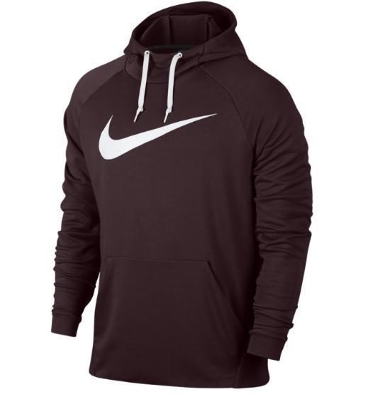 Реглан мужской Nike Dry Swoosh Hoodie burgundy crush/white