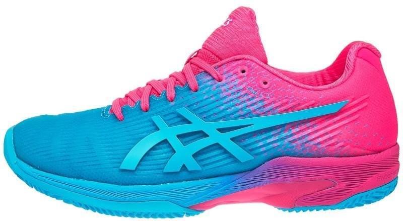3b84a041003b ... Теннисные кроссовки женские Asics Solution Speed FF Clay L.E. W  aquarium hot pink ...