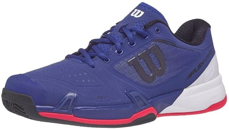 Теннисные кроссовки мужские Wilson Rush Pro 2.5 ГРУНТ mazarine blue/white/neon red