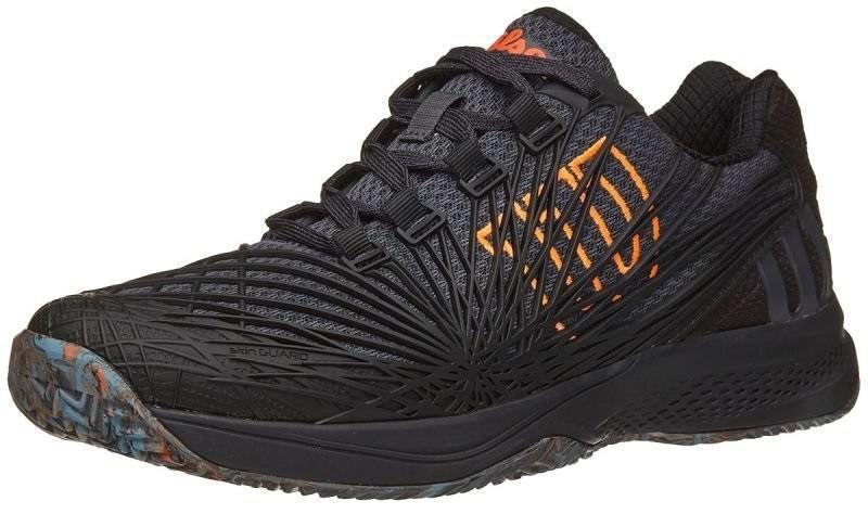 Теннисные кроссовки мужские Wilson Kaos 2.0 ГРУНТ Court ebony/black/shocking orange