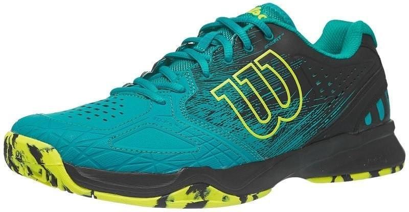 Теннисные кроссовки мужские Wilson Kaos Comp tropical green/black/safety yellow