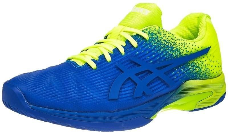 Теннисные кроссовки мужские Asics Solution Speed FF L.E. imperial/flash yellow