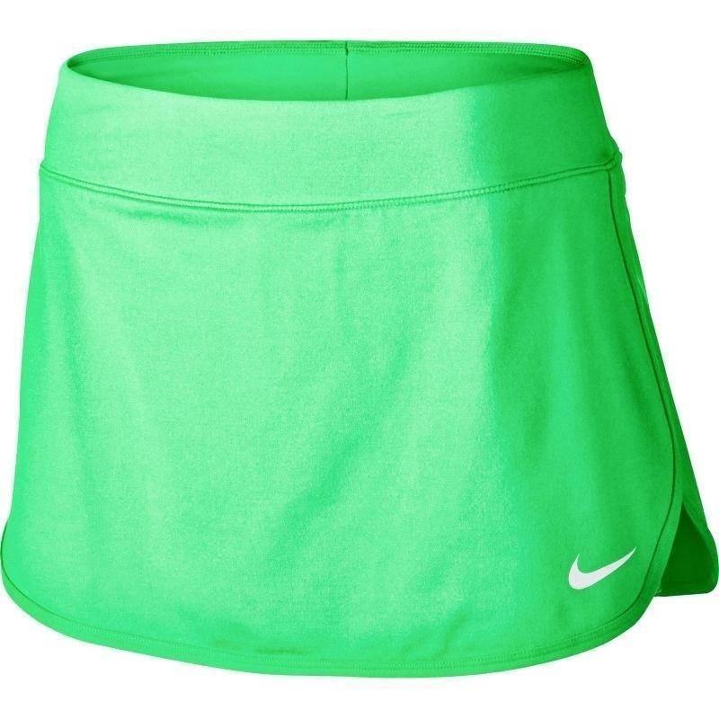 Теннисная юбка женская Nike Court Pure Skirt еlectro green/white