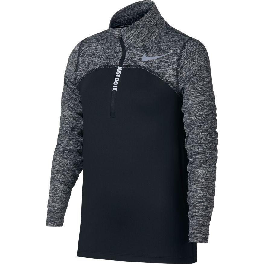 Теннисная футболка детская Nike Element Half-Zip Running Top black