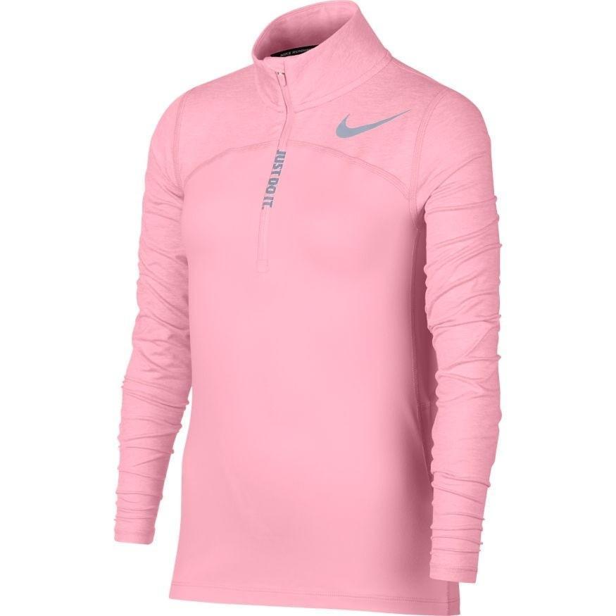 Теннисная футболка детская Nike Element Half-Zip Running Top pink