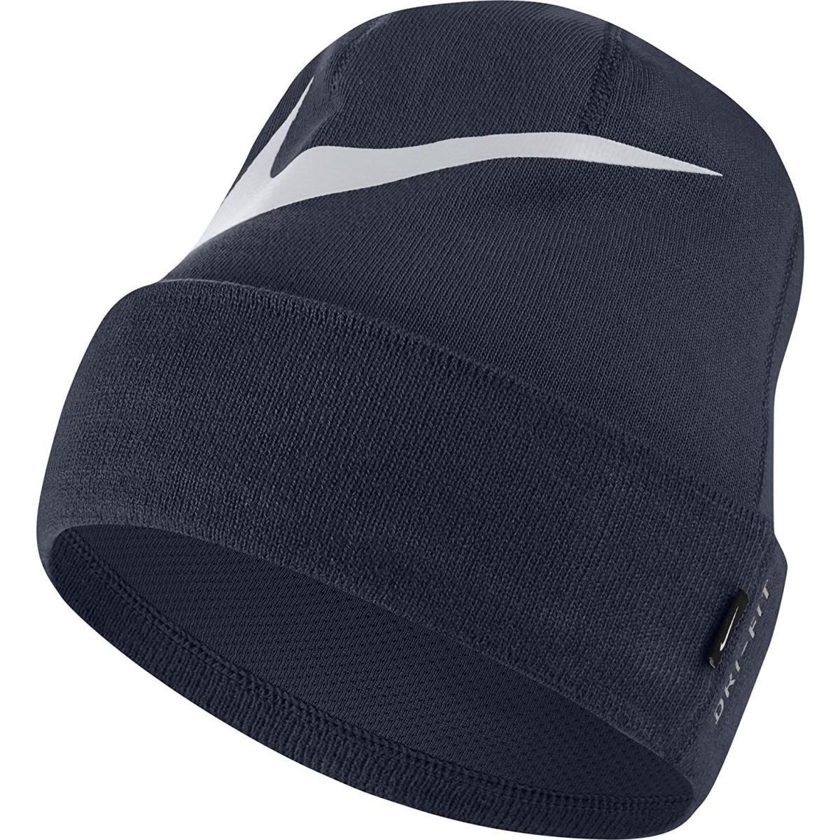 Спортивная шапка Nike Swoosh Cuffed Beanie obsidian/pure platinum